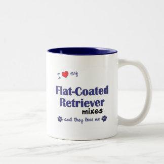 I Love My Flat-Coated Retriever Mixes (Multi Dogs) Two-Tone Coffee Mug