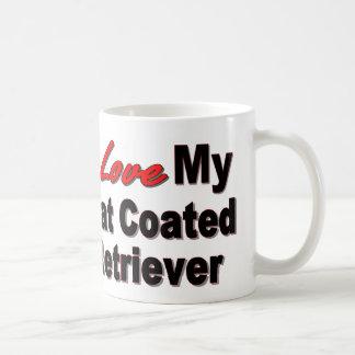 I Love My Flat Coated Retriever Coffee Mugs