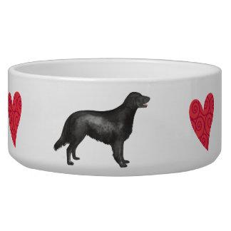 I Love my Flat-Coated Retriever Pet Food Bowl