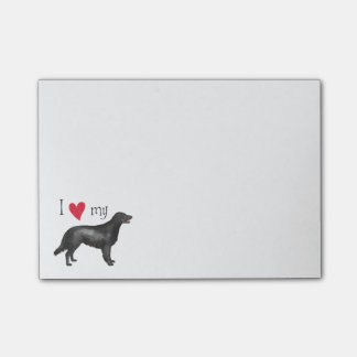 I Love my Flat-Coated Retriever Post-it® Notes