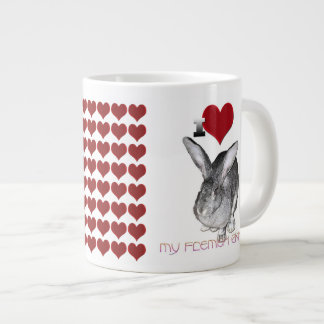 I Love My Flemish Giant Bunny Large Coffee Mug