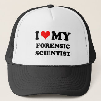 I Love My Forensic Scientist Trucker Hat
