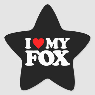 I LOVE MY FOX STICKER