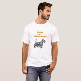 I LOVE MY FOX TERRIER DOG ILLUSTRATION T-Shirt