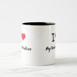 I Love My Freethinker Coffee Mug