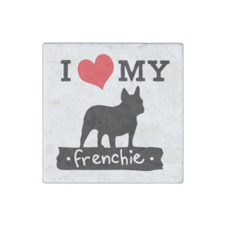 I Love My French Bulldog Magnet | by Mini Brothers Stone Magnet