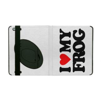I LOVE MY FROG iPad CASES