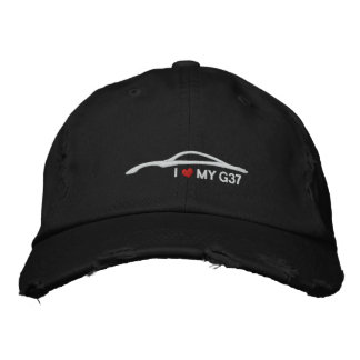 I Love My G37 - black Embroidered Hat