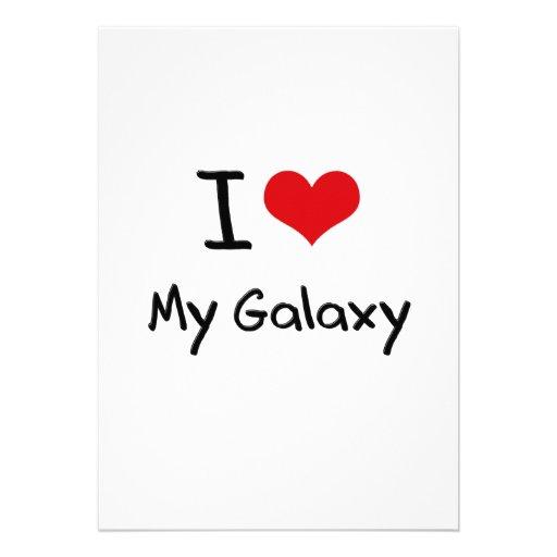I Love My Galaxy Custom Invitation