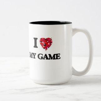 I Love My Game Two-Tone Mug