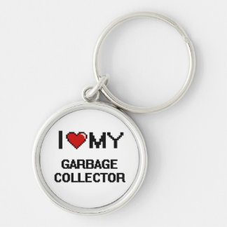 I love my Garbage Collector Silver-Colored Round Key Ring