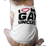 I LOVE MY GAY UNCLES SLEEVELESS DOG SHIRT
