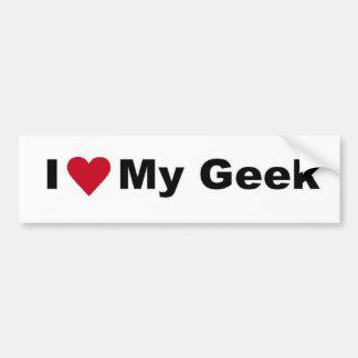 I Love My Geek Bumper Sticker