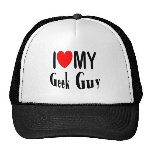 I Love My Geek Guy Mesh Hats