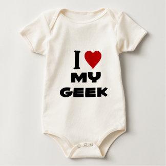 i love my geek.png baby bodysuit