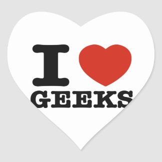 I love my geeks heart stickers