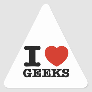I love my geeks triangle sticker