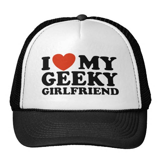 I Love My Geeky Girlfriend Hats