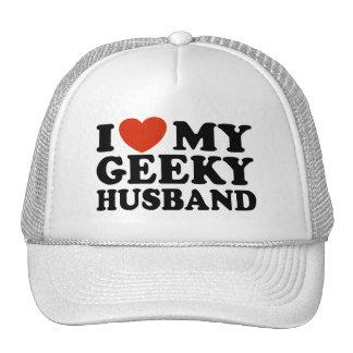 I Love My Geeky Husband Trucker Hat