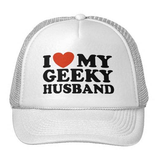 I Love My Geeky Husband Trucker Hats