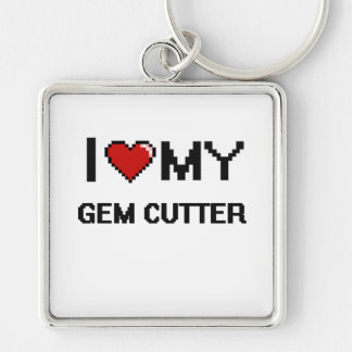 I love my Gem Cutter Silver-Colored Square Key Ring
