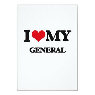 I love my General 9 Cm X 13 Cm Invitation Card