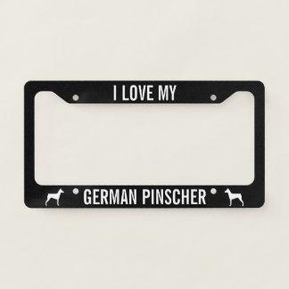 I love my German Pinscher - Custom Licence Plate Frame