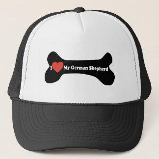 I Love My German shepherd - Dog Bone Trucker Hat