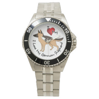 I Love My German Shepherd Dog Watch