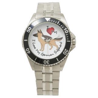 I Love My German Shepherd Dog Wrist Watch