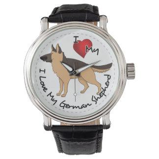 I Love My German Shepherd Dog Wristwatch