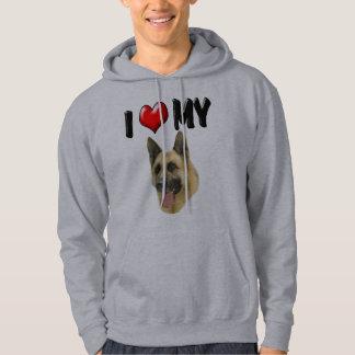 I Love My German Shepherd Hoodie