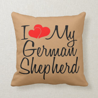 I Love My German Shepherd Throw Pillow