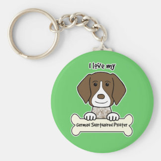 I Love My German Shorthaired Pointer Key Ring