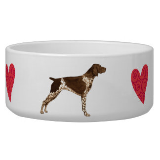 I Love my German Shorthaired Pointer Pet Food Bowls