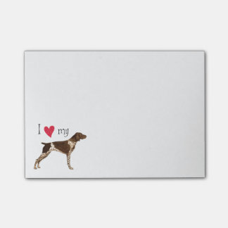 I Love my German Shorthaired Pointer Post-it Notes