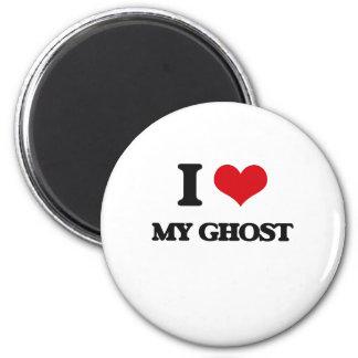I Love My Ghost Refrigerator Magnet