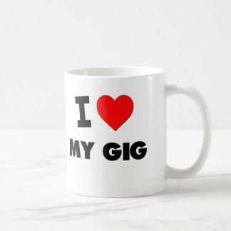 I Love My Gig Coffee Mugs
