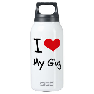 I Love My Gig 10 Oz Insulated SIGG Thermos Water Bottle