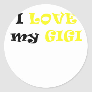 I Love my Gigi Round Sticker