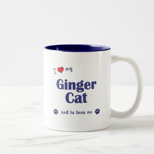 I Love My Ginger Cat (Male Cat) Mugs