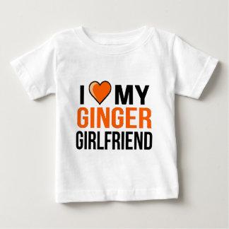 I Love My Ginger Girlfriend Baby T-Shirt