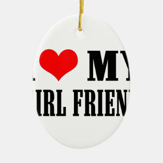 i love my girl friend ceramic oval decoration