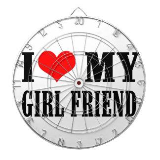 i love my girl friend dartboard