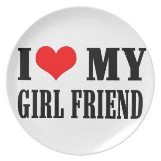 i love my girl friend plate