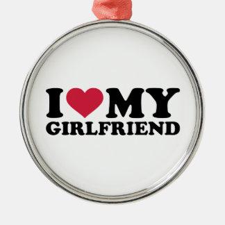 I love my girlfriend ornaments