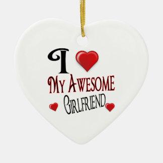 I love My Girlfriend Ceramic Heart Decoration