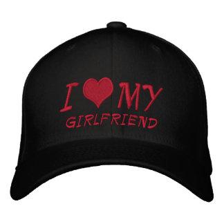 I Love My Girlfriend Embroidered Baseball Caps