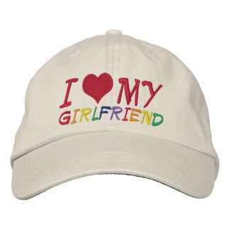 I Love My Girlfriend Embroidered Hats