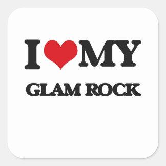 I Love My GLAM ROCK Stickers